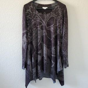Soft Surroundings flower sweater tunic